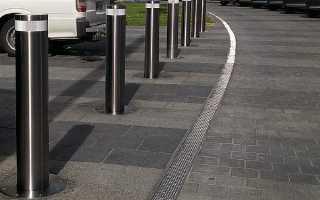 Столбики для ограждения парковки: полусфера из бетона
