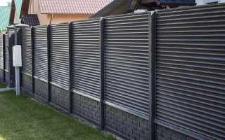 Забор жалюзи металлические: фото и установка ламелей своими руками на видео