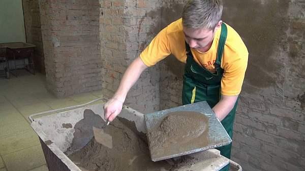 Расход цементной штукатурки