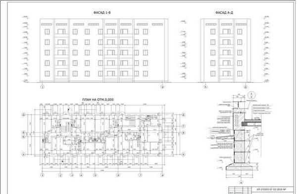План классической пятиэтажки