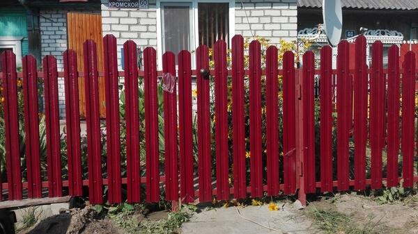 Забор волной