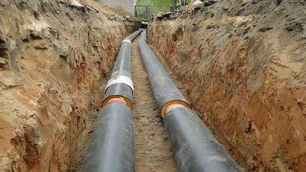 Расстояние от трубопровода до кабелей