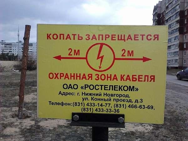 Охранная зона линии связи
