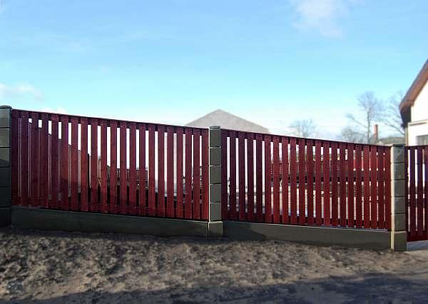 Забор с уклоном