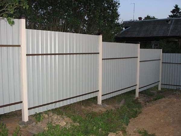 Ограда частного дома