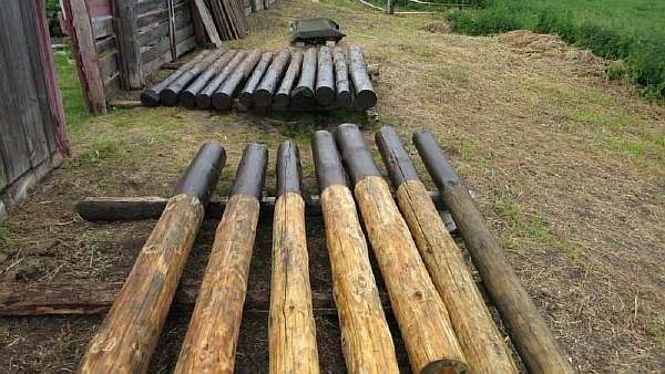 Столбы после обработки